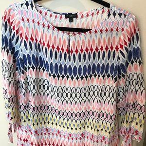 Flowy multicolored blouse. EUC